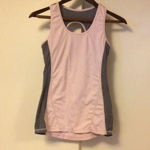 Kyodan pink grey sports bra top small